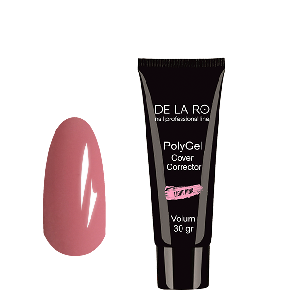 Полигель PolyGel LIGHT PINK DeLaRo (камуфляж), 30 гр