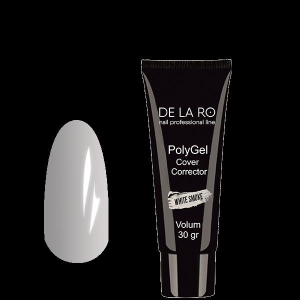 Полигель PolyGel WHITE SMOKE DeLaRo (белый), 30 гр