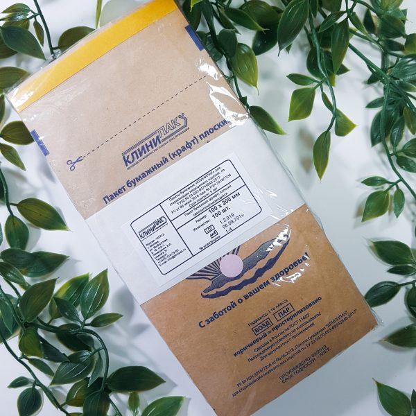 Крафт пакеты КЛИНИПАК для стерилизации 100х200мм. (100 шт)