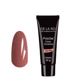 Полигель PolyGel CANDY ROUGE DeLaRo (камуфляж), 30 гр