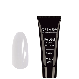 Полигель PolyGel CLEAR DeLaRo (прозрачный), 30 гр