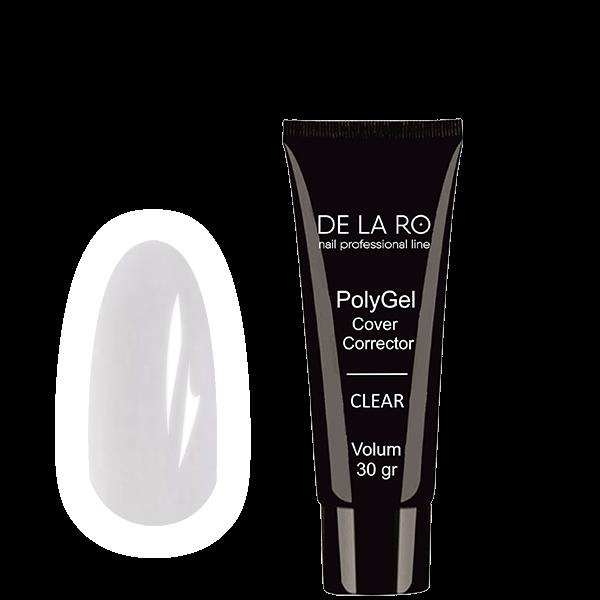 Полигель PolyGel CLEAR DeLaRo (прозрачный), 30 гр