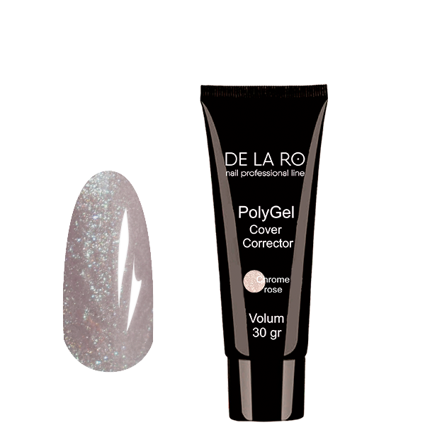 Полигель PolyGel Chrome Rose DeLaRo , 30 гр