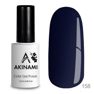 Akinami Color Gel Polish тон 158 Black Blue
