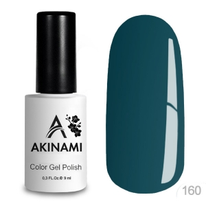 Akinami Color Gel Polish тон 160 Green Blue