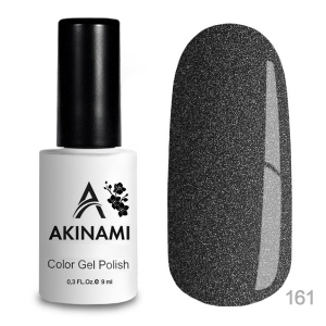 Akinami Color Gel Polish тон 161 Black Metal