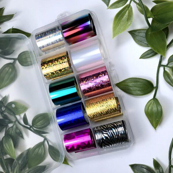 Набор фольги для дизайна ногтей № 5