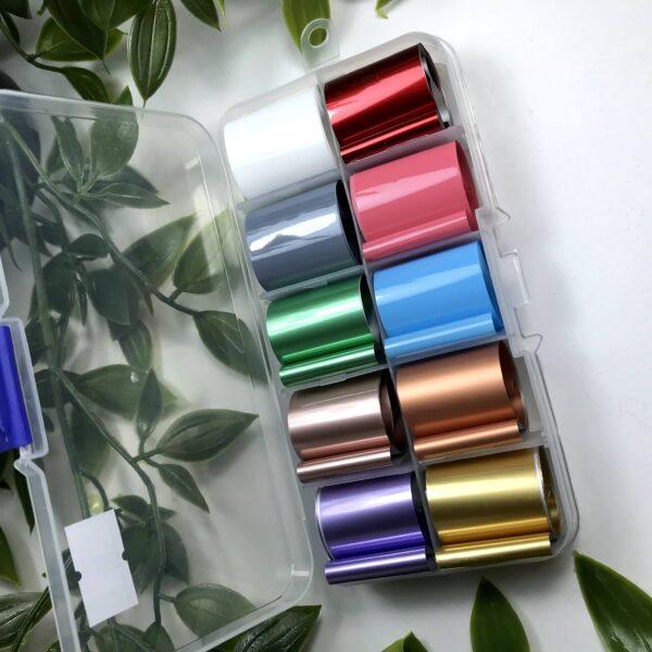 Набор фольги для дизайна ногтей № 4