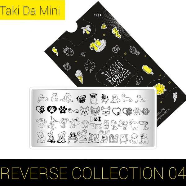 Пластина для стемпинга ТакиДа #mini 04