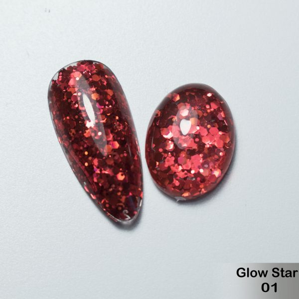 Glitter Gel DeLaRo-тон Glow Star 01