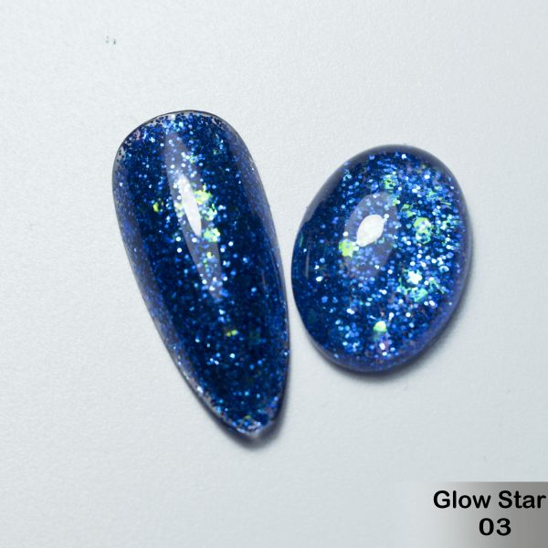 Glitter Gel DeLaRo-тон Glow Star 03