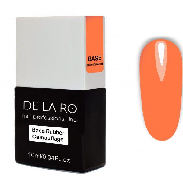 Base Rubber Camouflage Neon Drive 09 DeLaRo 10 мл