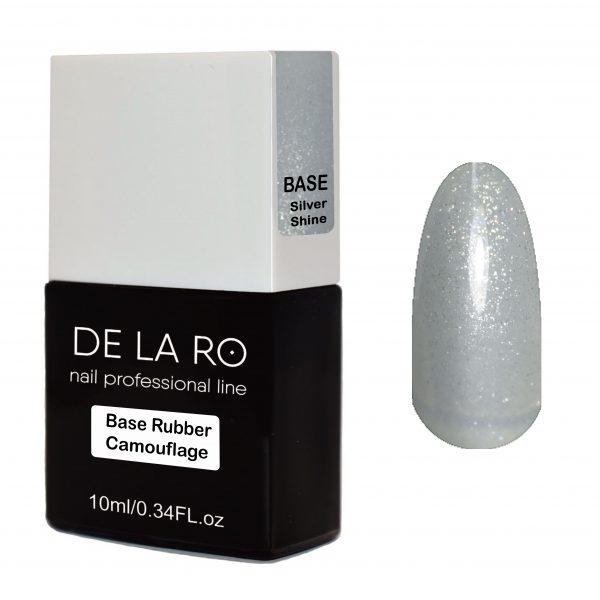 Base Rubber Camouflage Silver Shine DeLaRo 10 мл